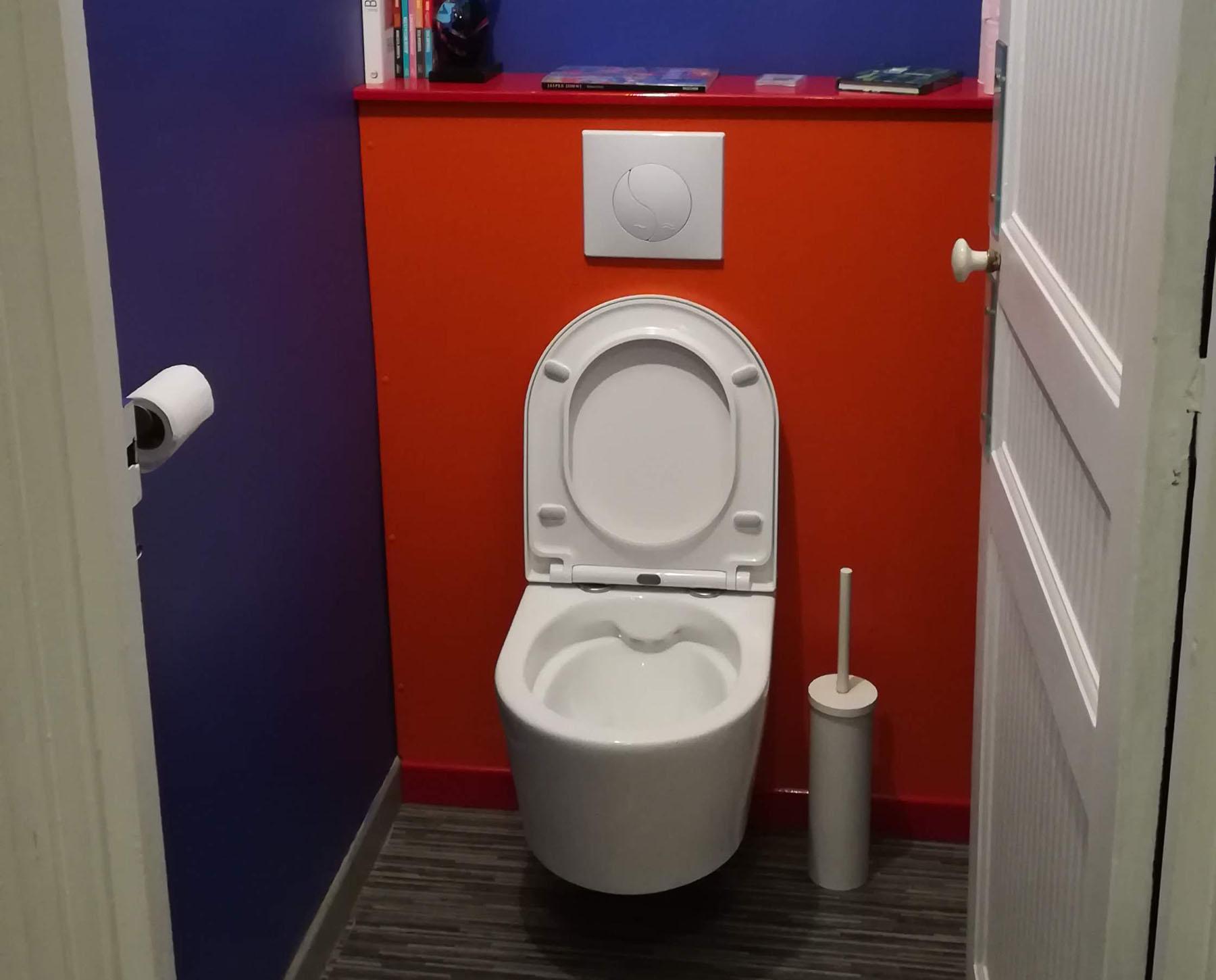 Wc Suspendu 4 Pieds pose d'un wc suspendu avec repiquage - pasbanal